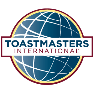 Proud members of Toastmasters International.